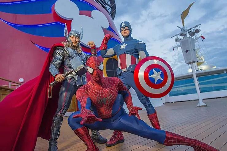 Marvel at the Sea nos navios Disney (Foto: Divulgação)