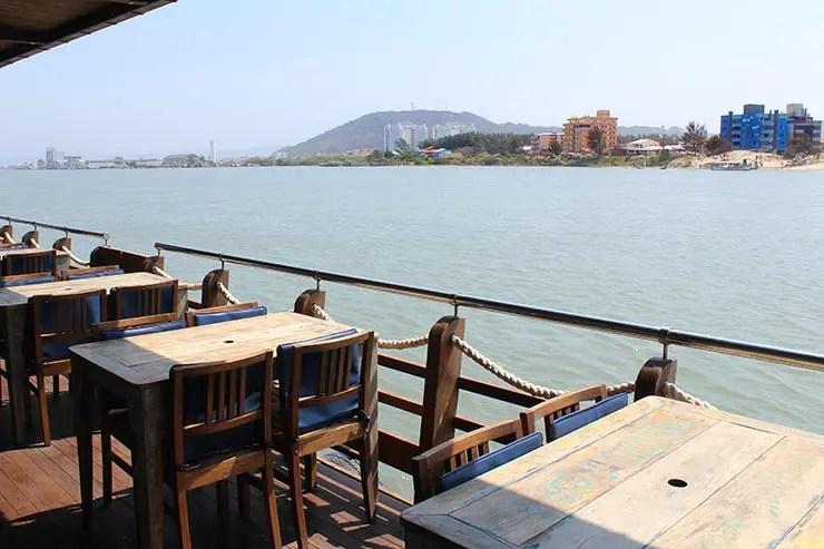 Ponta da Barra em Laguna: Geraldo Restaurante (Foto: Esse Mundo É Nosso)