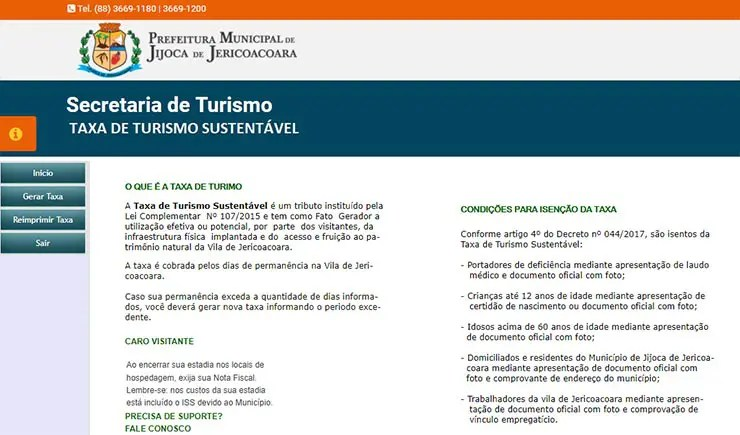 Como pagar a taxa de turismo de Jericoacoara (Reprodução)