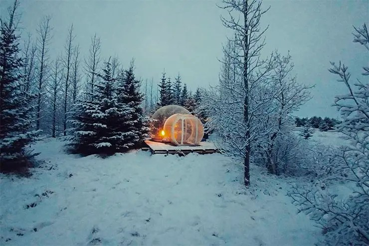 Hotel Bolha na Islândia (Foto: Reprodução/Instagram Buubble Iceland)