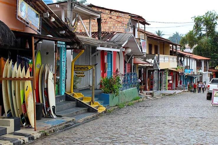 O que fazer em Itacaré: Rua da Pituba (Foto: Esse Mundo É Nosso)