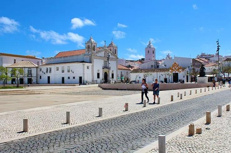 Dicas de Lagos, Portugal - Praça Dom Infante Henrique (Foto: Esse Mundo É Nosso)
