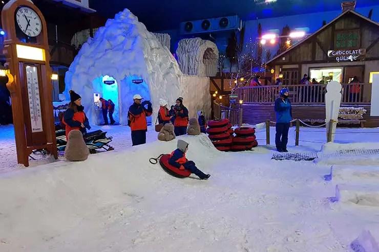 Snowland em Gramado (Foto: Esse Mundo É Nosso)