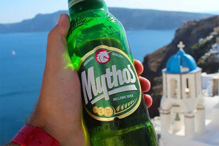 Típicos pratos gregos - Cerveja Mythos (Foto: Esse Mundo É Nosso)
