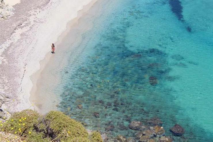 As melhores praias de Mykonos - Kalo Livadi (Foto: Esse Mundo É Nosso)