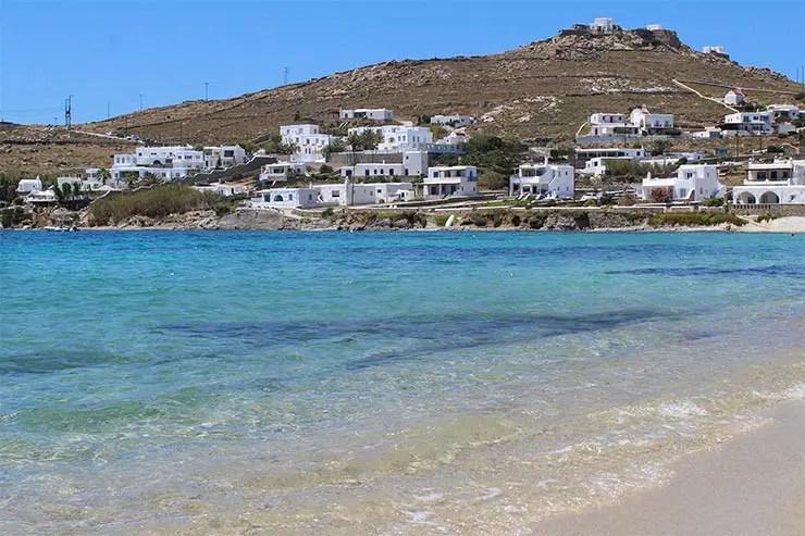 As melhores praias de Mykonos - Ornos (Foto: Esse Mundo É Nosso)