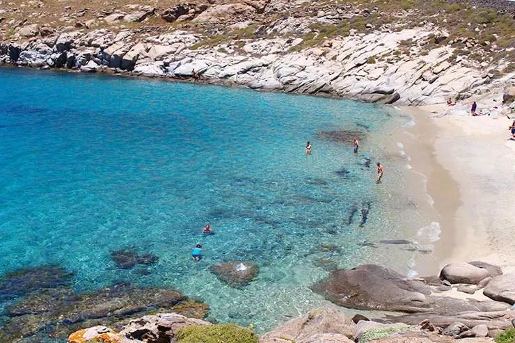 As melhores praias de Mykonos - Kapari (Foto: Esse Mundo É Nosso)