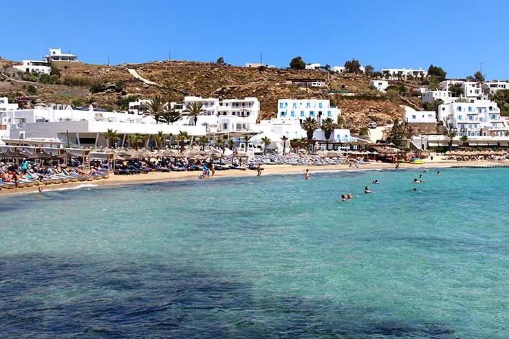 As melhores praias de Mykonos - Platis Gialos (Foto: Esse Mundo É Nosso)