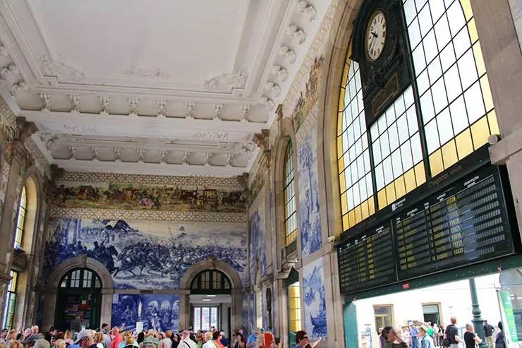 O que fazer no Porto, Portugal - Estação São Bento (Foto: Esse Mundo É Nosso)