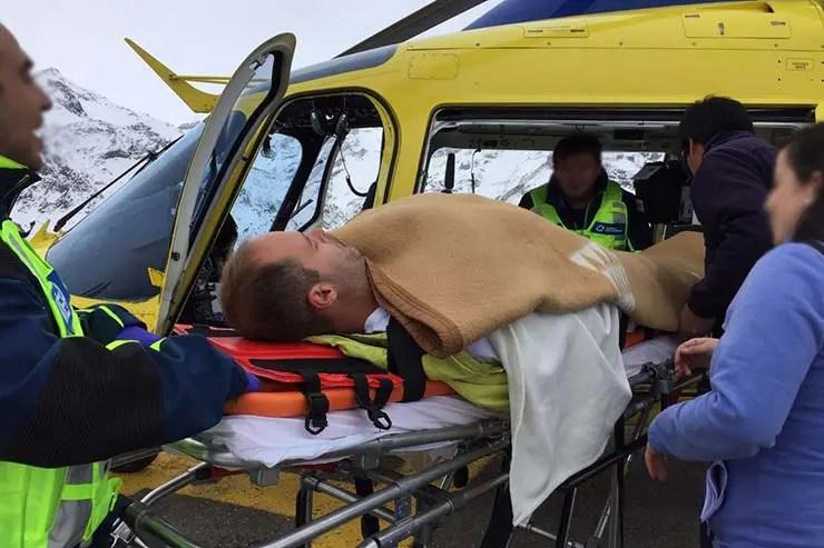 Meu acidente no Chile (Foto: Esse Mundo É Nosso)