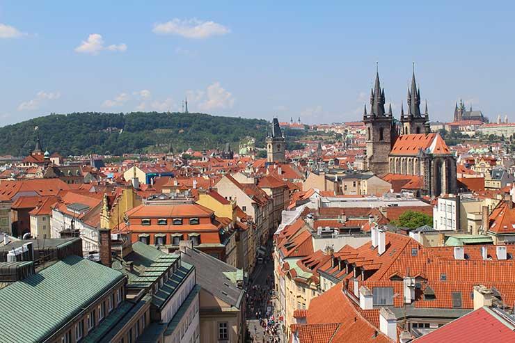Vista de Praga: Cidade do alto (Foto: Esse Mundo é Nosso)