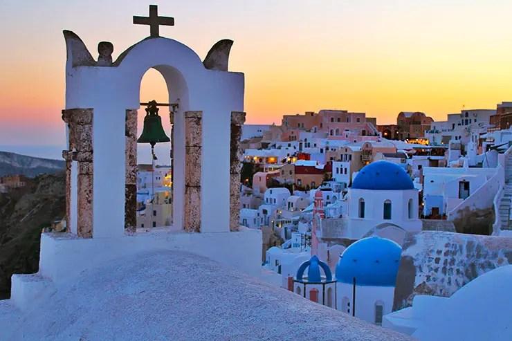 Pôr do sol em Oia, Santorini (Foto: Esse Mundo É Nosso)