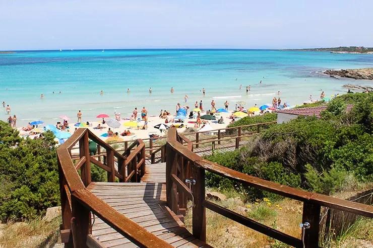 Praia La Pelosa, Itália (Foto: Esse Mundo É Nosso)