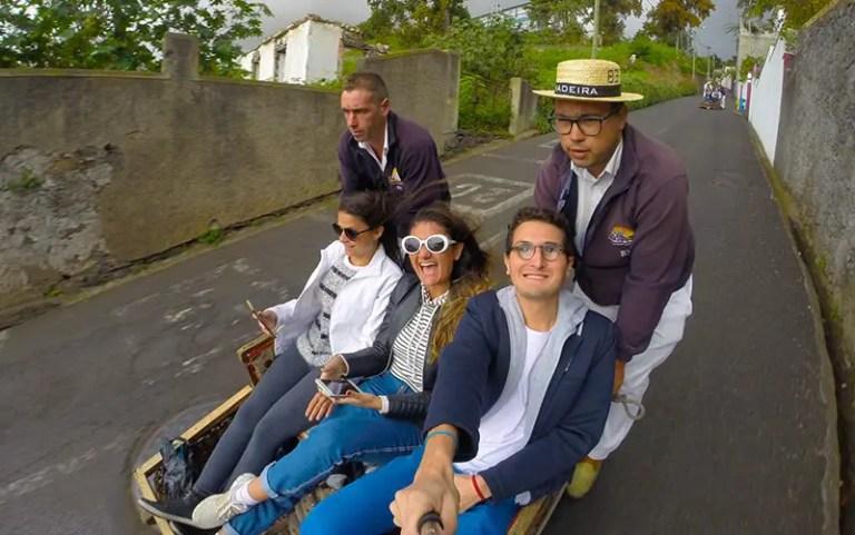Carros de cesto na Ilha da Madeira (Foto: Esse Mundo é Nosso)
