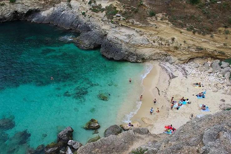Melhores praias da Itália - Porto Miggiano (Foto: Esse Mundo é Nosso)