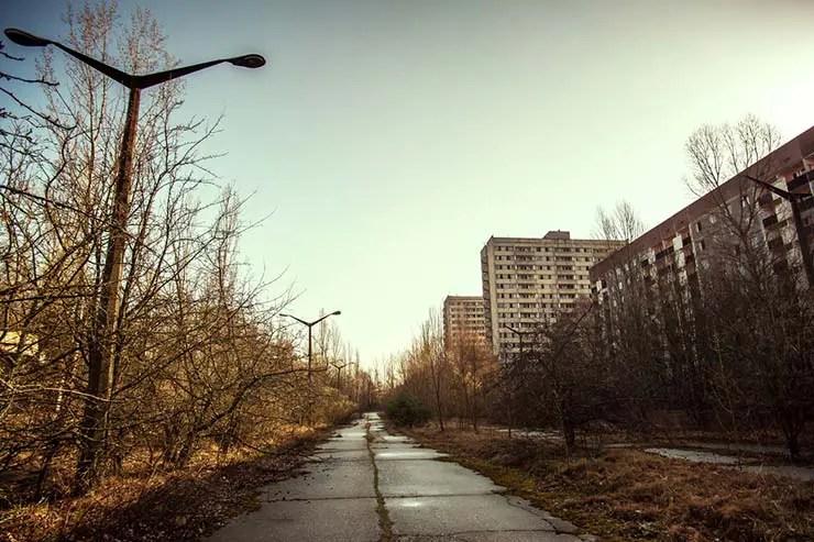 Cidade fantasma de Pripyat, Ucrânia (Por Dima Kalyta via Shutterstock)