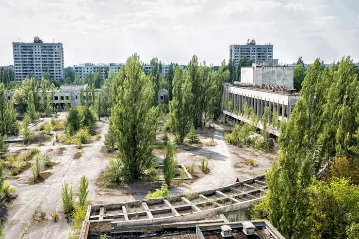 Centro de Pripyat, Ucrânia (Por Oriole Gin via Shutterstock)