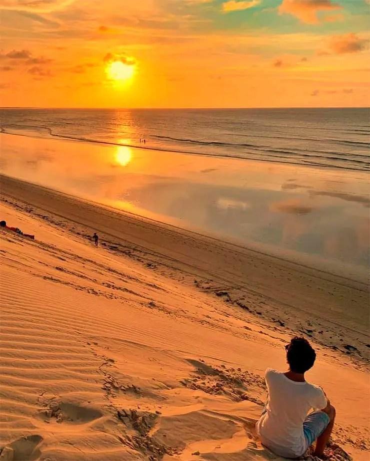 Pôr do sol em Jeri (Foto: Esse Mundo é Nosso)
