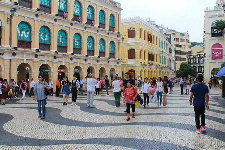 Largo do Senado em Macau (Foto: Esse Mundo É Nosso)