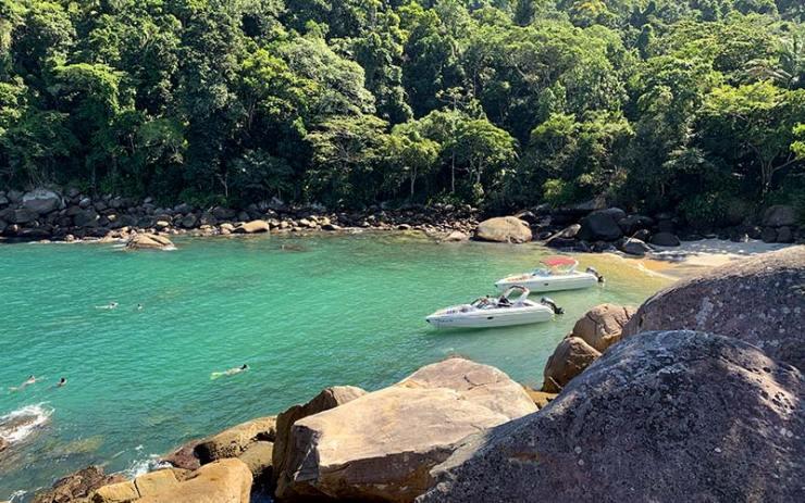 Vista da Pedra do Caxadaço em Ilha Grade (Foto: Esse Mundo É Nosso)