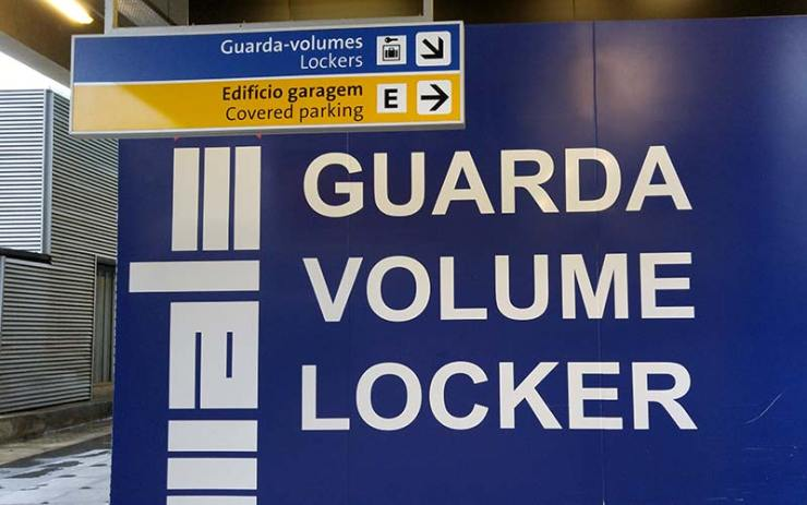 Guarda volumes no GRU Airport, no Terminal 3 (Foto: Esse Mundo É Nosso)