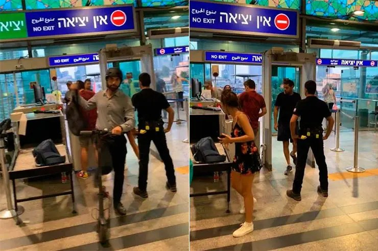 É seguro viajar pra Israel? Raio-x em estação de trem em Tel Aviv (Foto: Esse Mundo é Nosso)