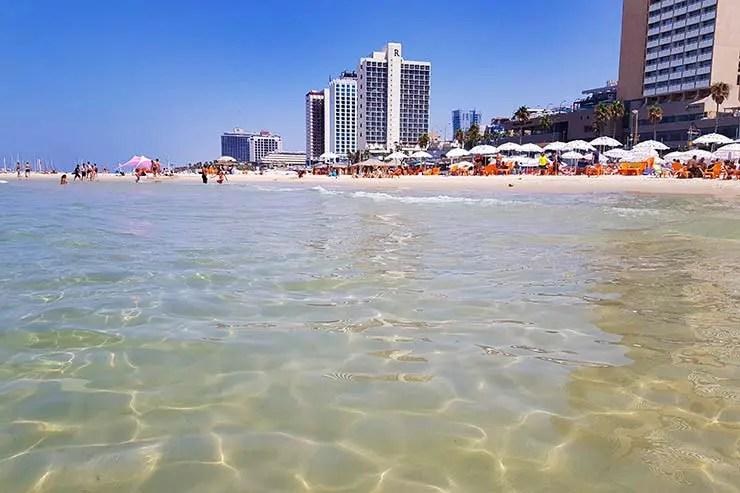 Praia de Tel Aviv, Israel (Foto: Esse Mundo É Nosso)