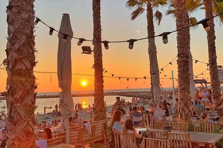 Pôr do sol em Tel Aviv (Foto: Esse Mundo é Nosso)