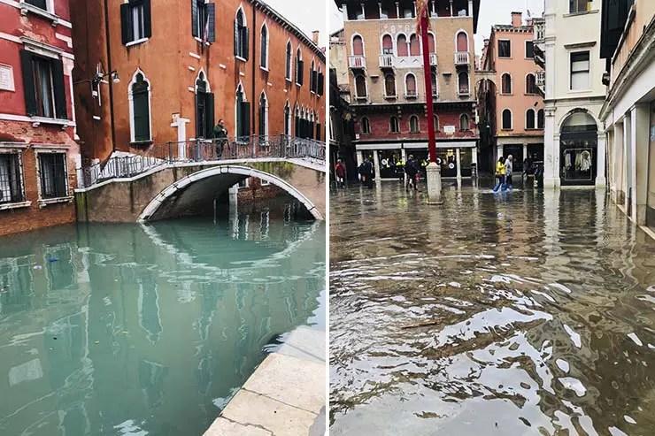 Inundação Veneza Novembro 2019 (Fotos: Andressa Berton Stankievicz)