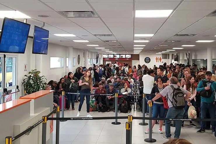 Portão de Embarque no Aeroporto El Palomar (Foto: Esse Mundo É Nosso)