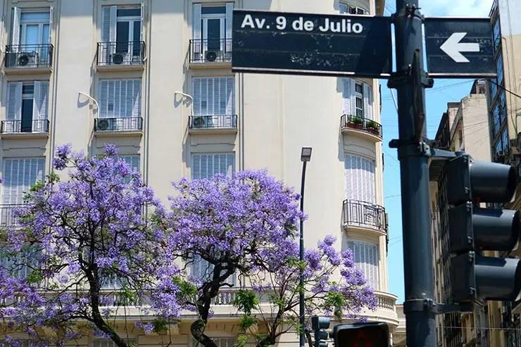 Avenida 9 de Julio em Buenos Aires (Foto: Esse Mundo é Nosso)