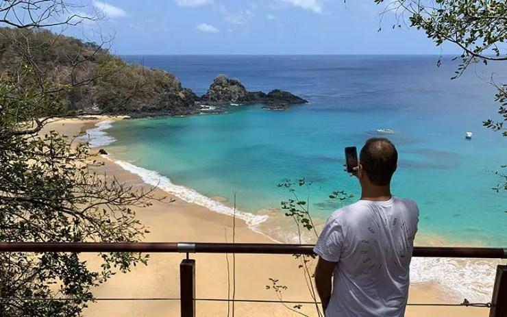 Internet em Noronha: Baía do Sancho (Foto: Esse Mundo É Nosso)