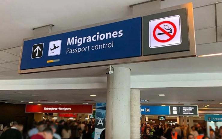 Imigração em Buenos Aires (Foto: Esse Mundo é Nosso)