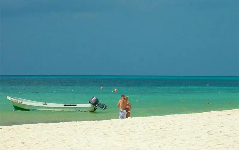 Praia de Playa del Carmen (Foto: Esse Mundo É Nosso)