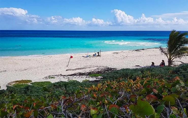 Praia em Cozumel (Foto: Esse Mundo É Nosso)