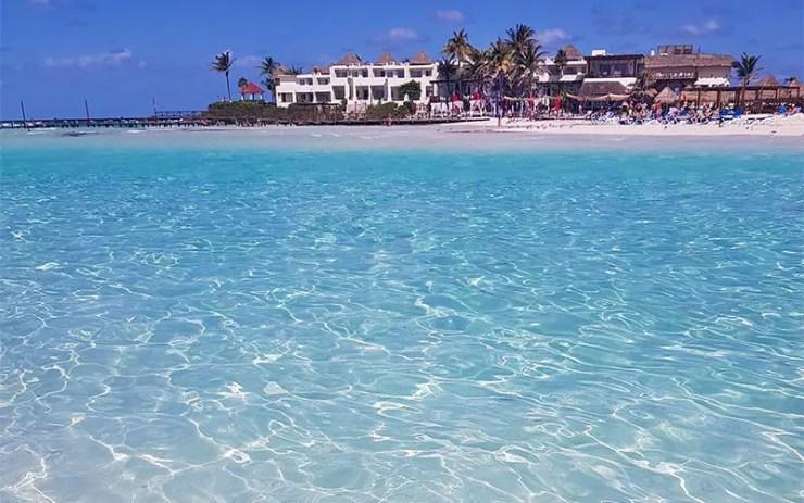 Playa Norte em Isla Mujeres (Foto: Esse Mundo É Nosso)