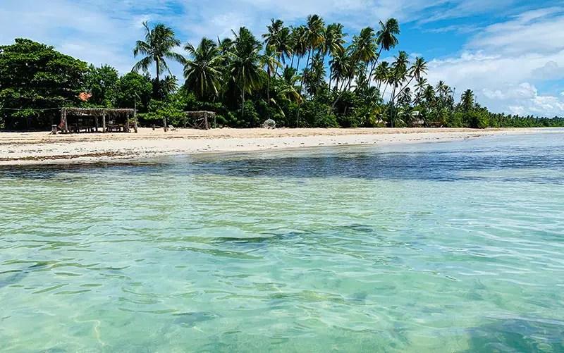 Águas claras no Pontal do Bainema