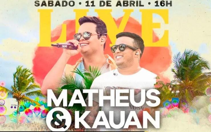 Assista agora à live de Matheus e Kauan (Foto: Reprodução/YouTube)