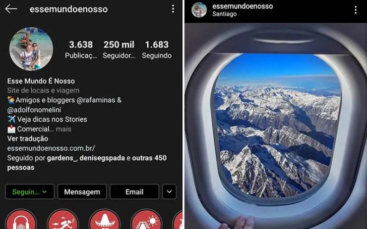 Instagram Preto - Modo Noturno Android (Foto: Esse Mundo É Nosso)
