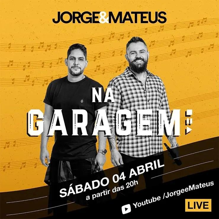 Live de Jorge e Mateus: Como assistir ( Foto: Reprodução/Instagram/Jorge e Mateus)