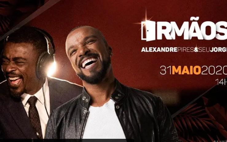 Live de Alexandre Pires e Seu Jorge (Foto: Reprodução/YouTube)