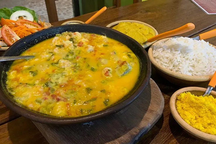 Moqueca no restaurante Panela de Barro (Foto: Esse Mundo é Nosso)