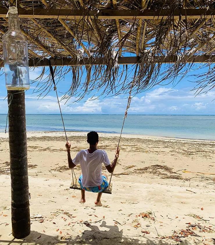 Balanço de frente pro mar em Boipeba (Foto: Esse Mundo É Nosso)