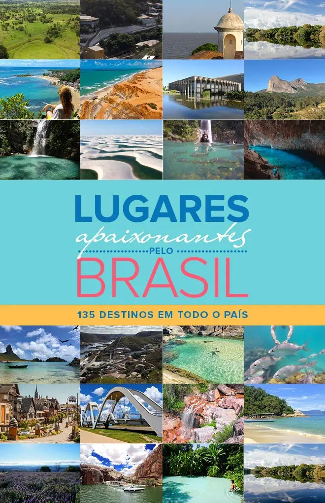 Blogueiros lançam guia: Lugares Apaixonantes pelo Brasil Capa do e-book (Foto: Reprodução)