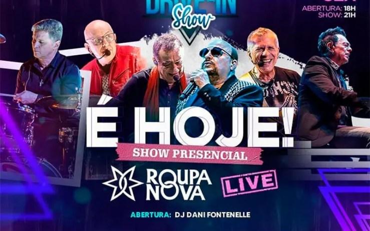 Live do Roupa Nova hoje: Assista agora ao vivo (Foto: Reprodução/Instagram)