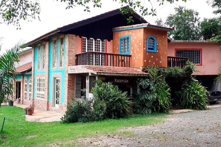 Hotéis e pousadas em Holambra: Entrada da recepção do Parque Paraíso das Flores (Foto: Reprodução/Booking)