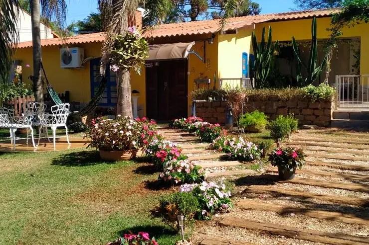 Hotéis e pousadas em Holambra: Entrada da Recanto Sonho Meu (Foto: Reprodução/Booking)