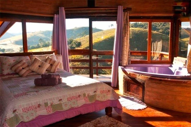 Hotéis e pousadas em Santo Antônio do Pinhal: Quarto da Sol Nascente (Foto: Reprodução/Booking)