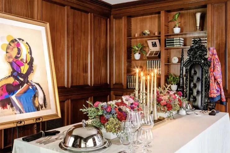 Sala de jantar da mansão
