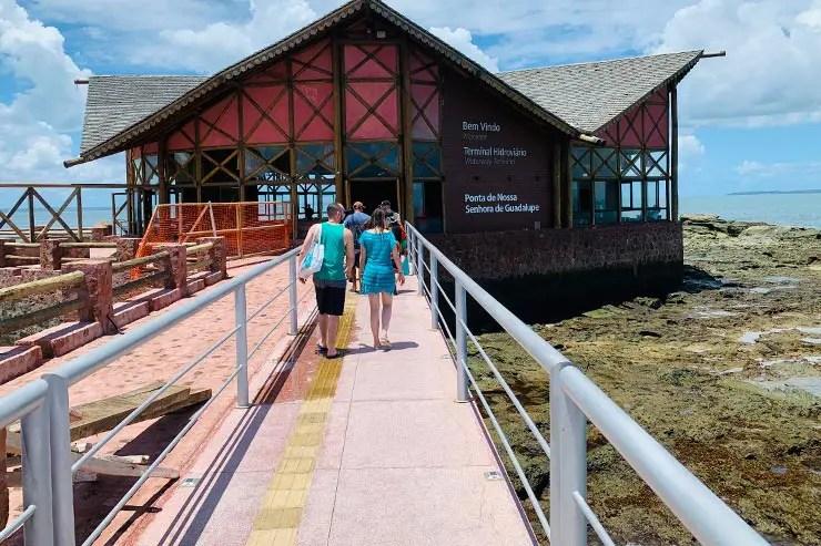 Entrada da Ilha dos Frades: É preciso pagar uma taxa ambiental (Foto: Esse Mundo é Nosso)